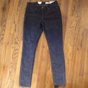 All Saints Ashby corduroy skinny Jeans plum